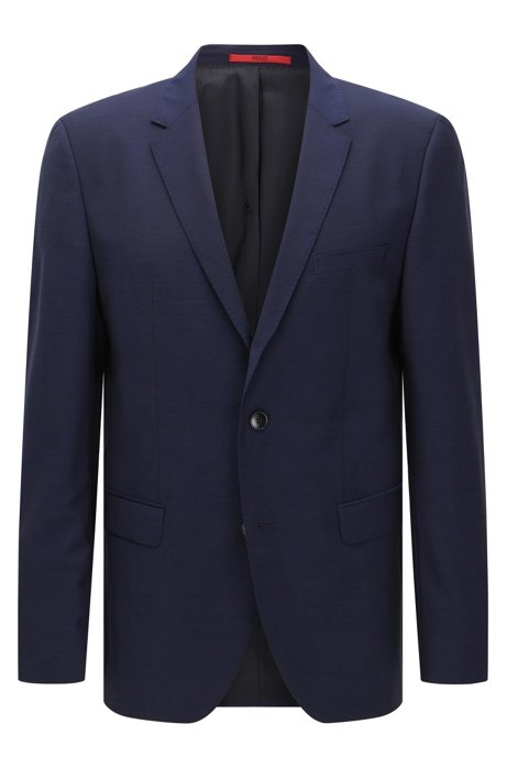 Regular-fit suit jacket in virgin wool , Blue