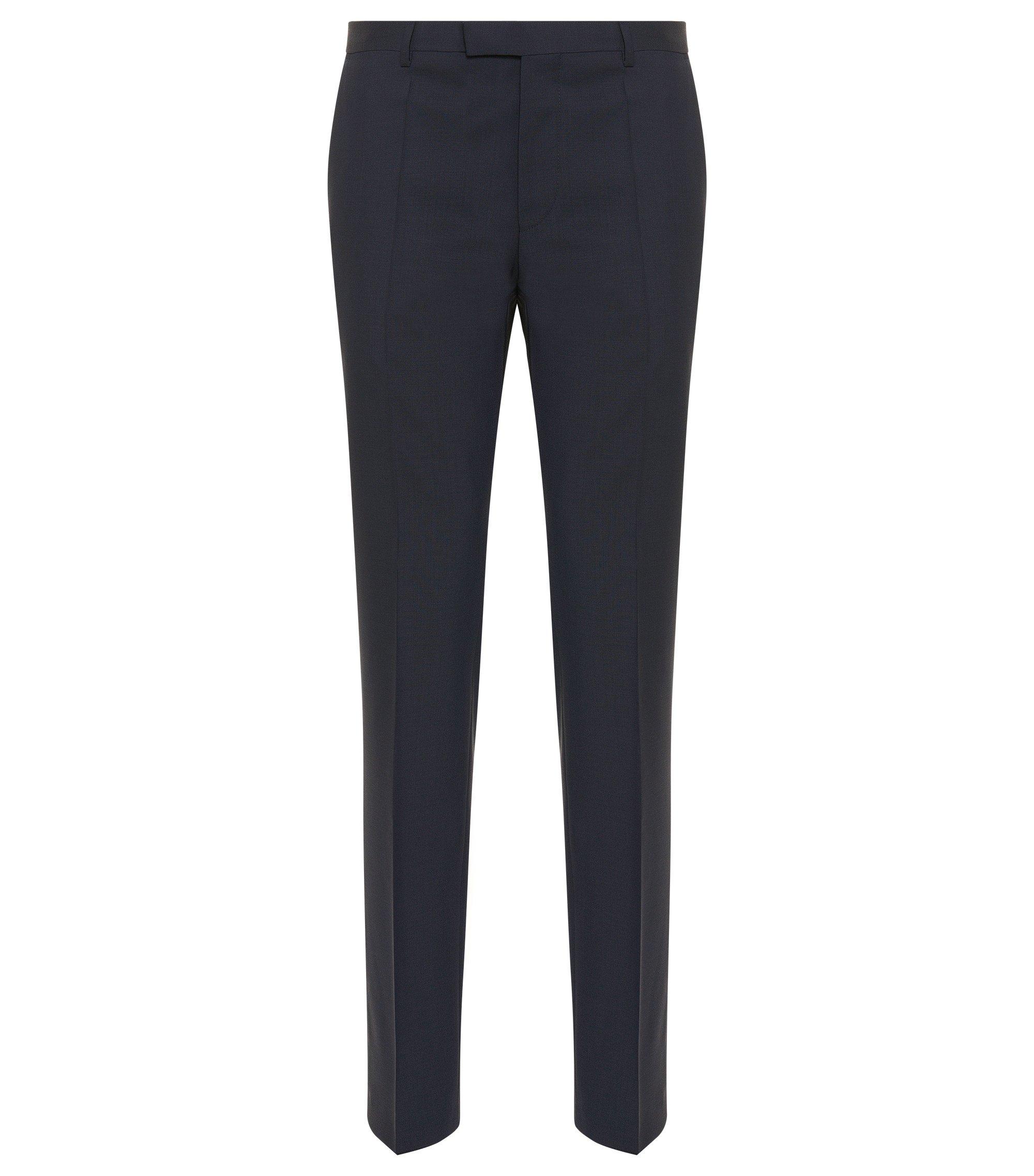 Regular-fit pantalon van scheerwol , Donkerblauw
