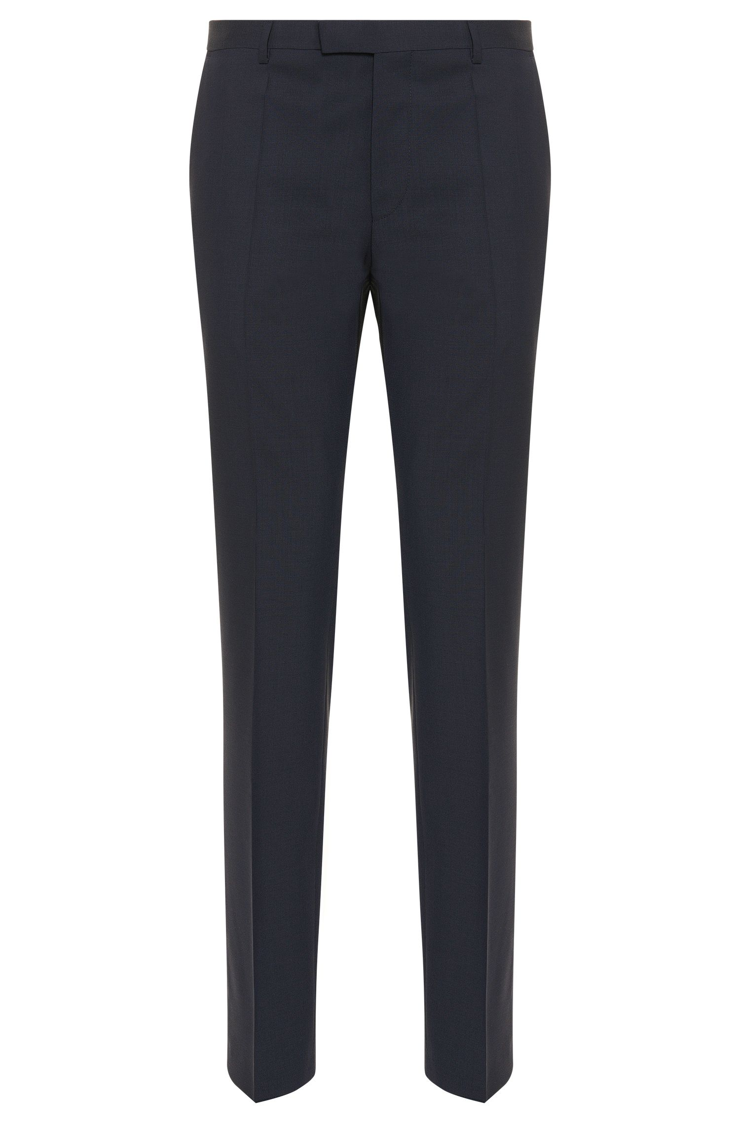 Regular-fit pantalon van scheerwol