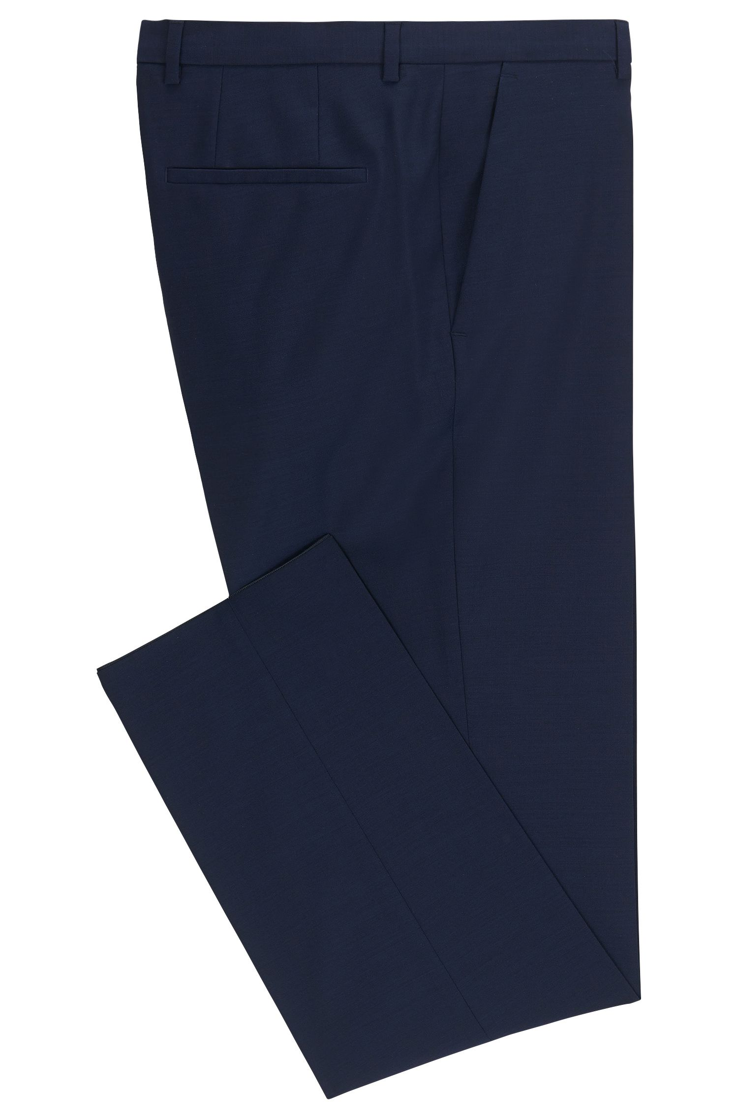 Regular-fit trousers in virgin wool