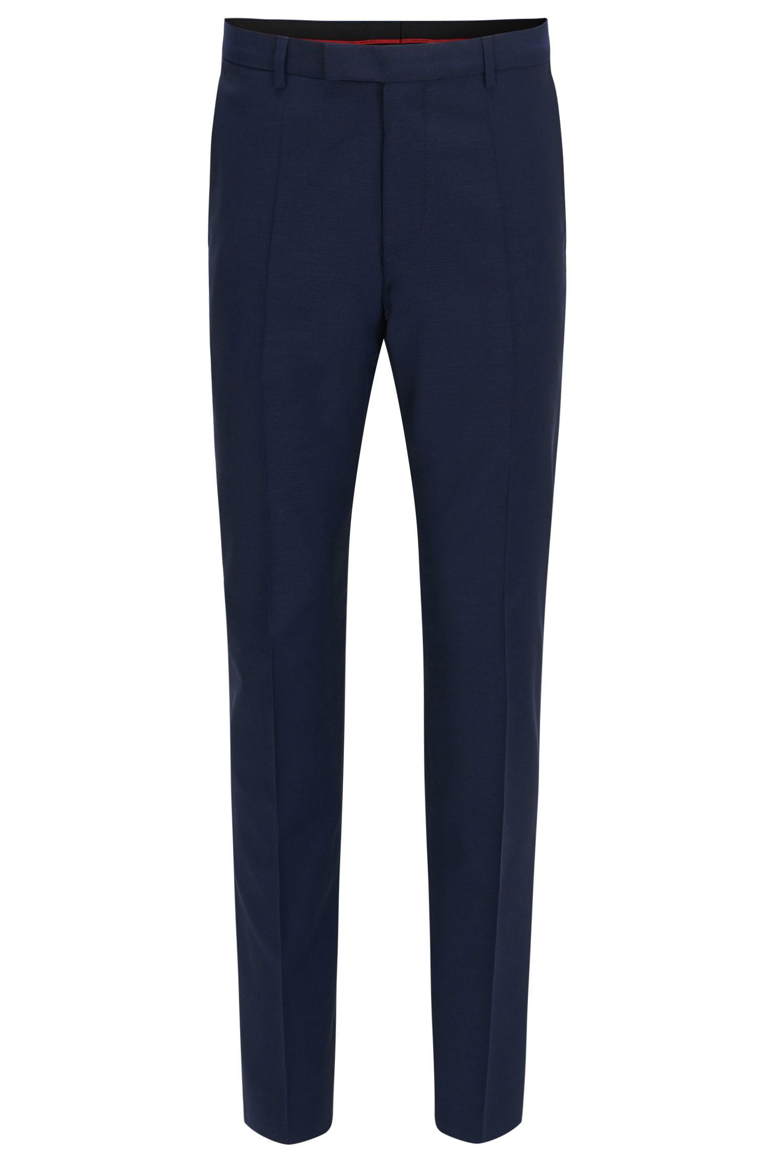 Regular-fit trousers in virgin wool