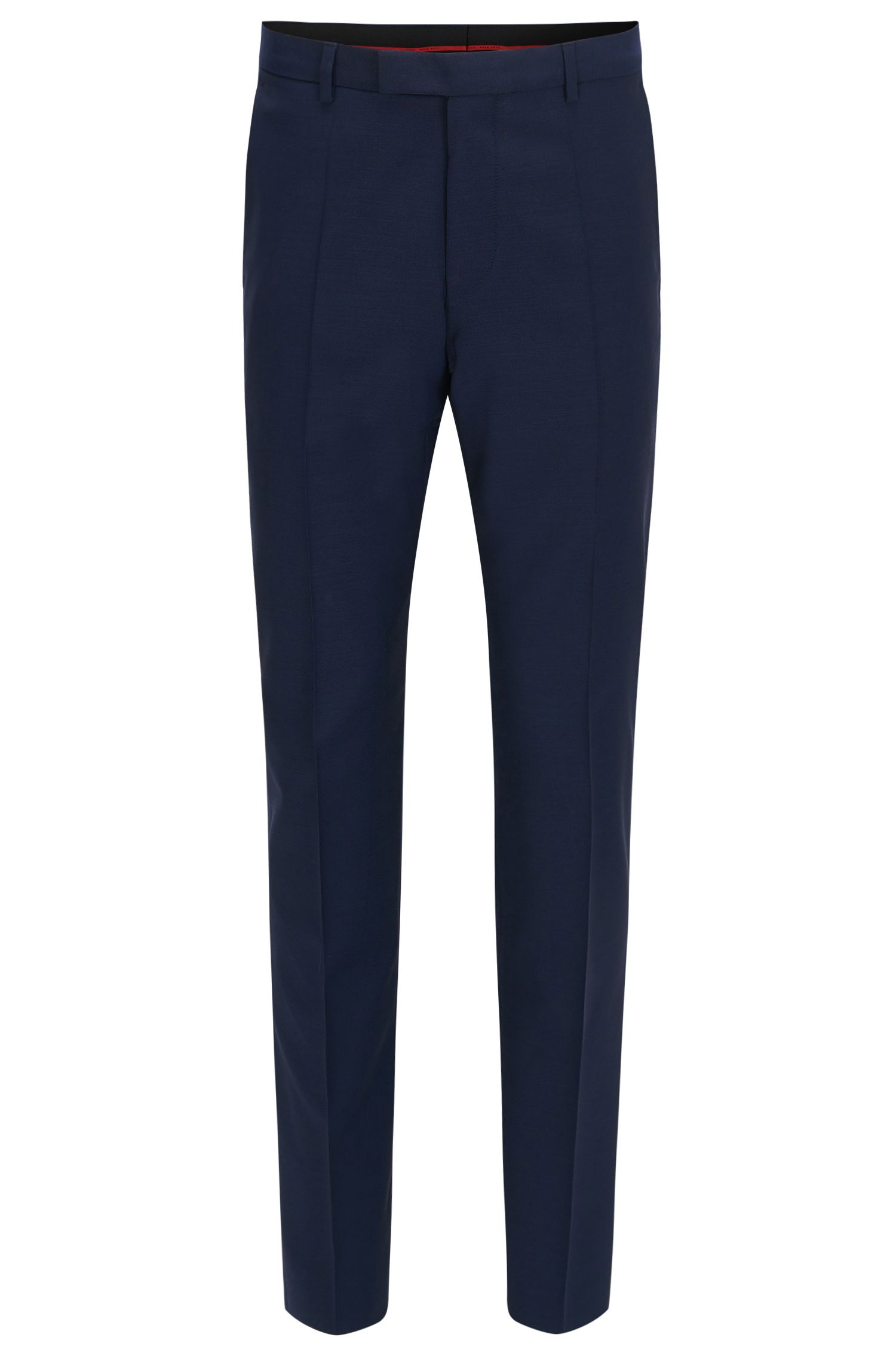 Pantalon Regular Fit en laine vierge, Bleu