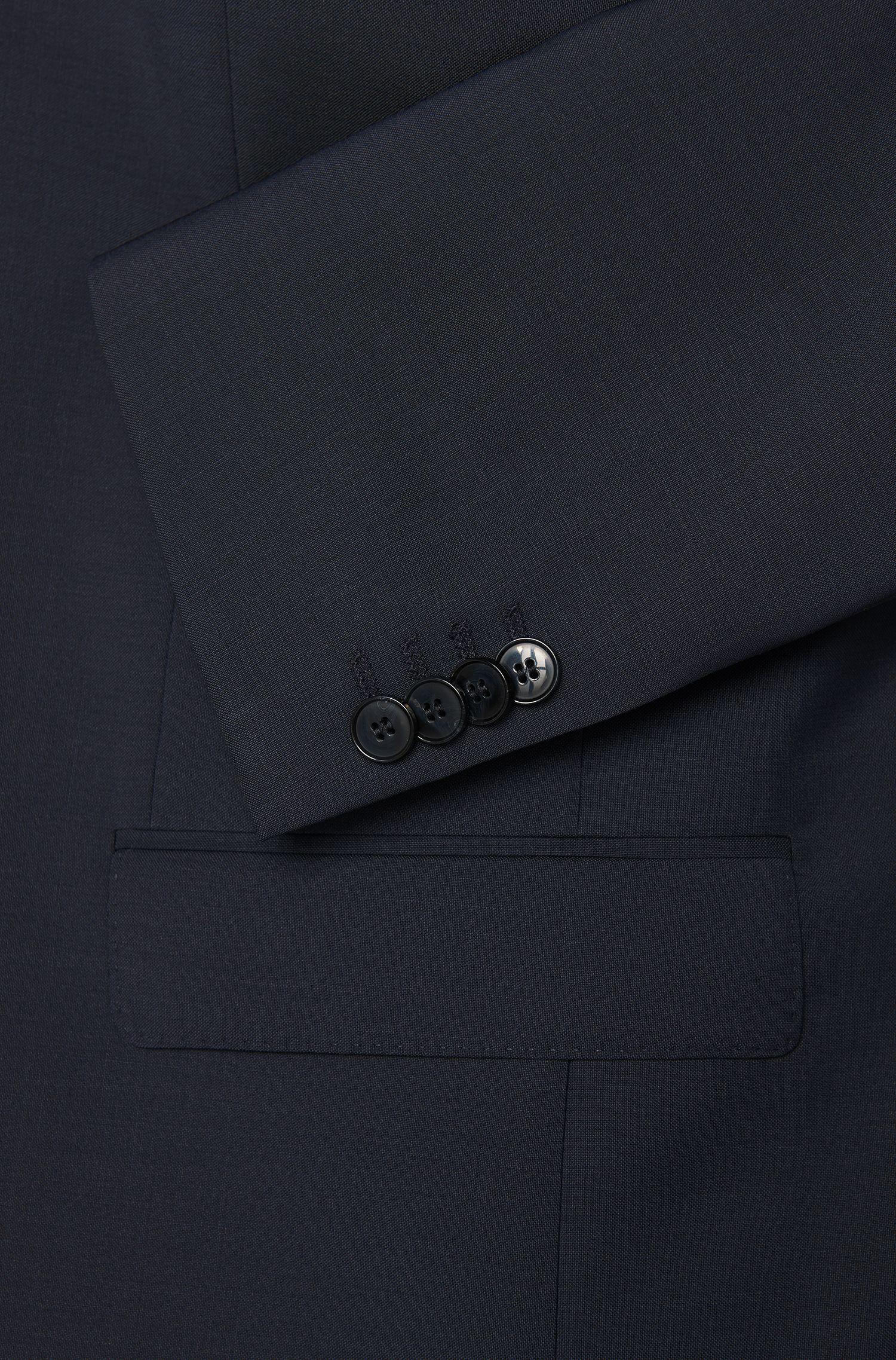 Slim-fit suit jacket in virgin wool