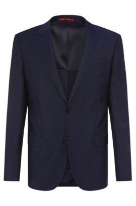 Slim-fit suit jacket in virgin wool , Blue