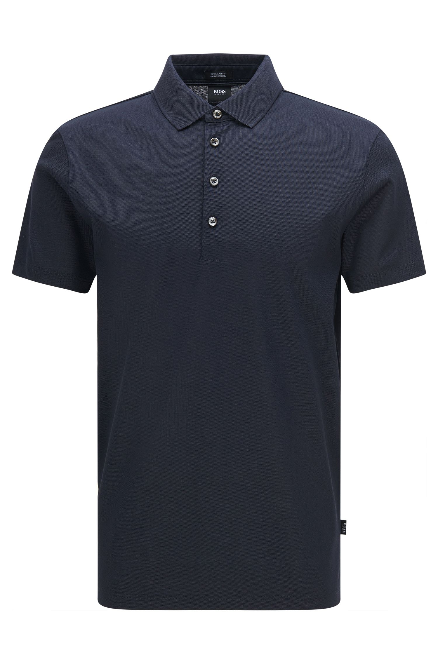 Polo Regular Fit en coton mercerisé