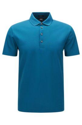 Regular-Fit Poloshirt aus merzerisierter Baumwolle, Türkis