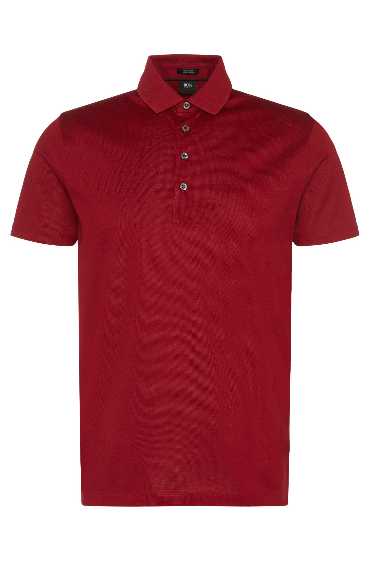 Polo regular fit en algodón mercerizado