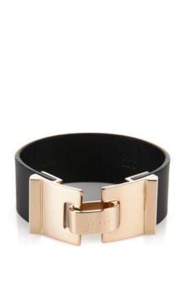 Armband aus Leder: 'Grace Bracelet', Schwarz