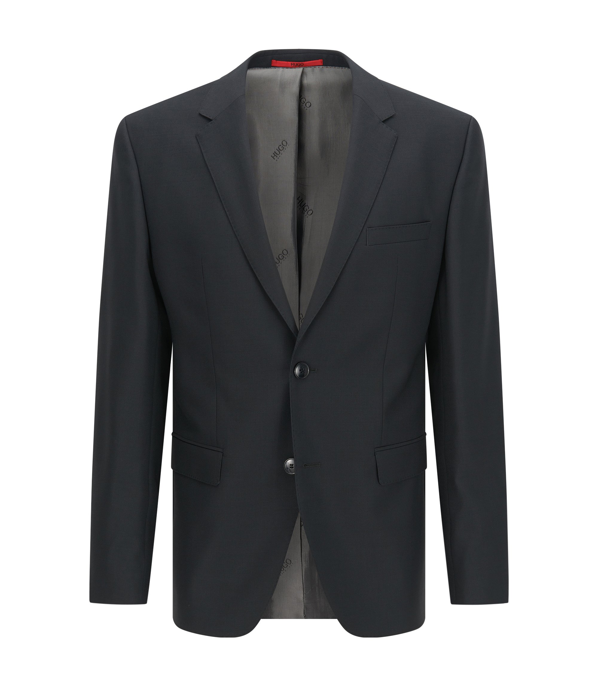 Regular-fit suit jacket in virgin wool , Anthracite