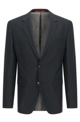 Giacca regular fit in lana vergine , Grigio antracite