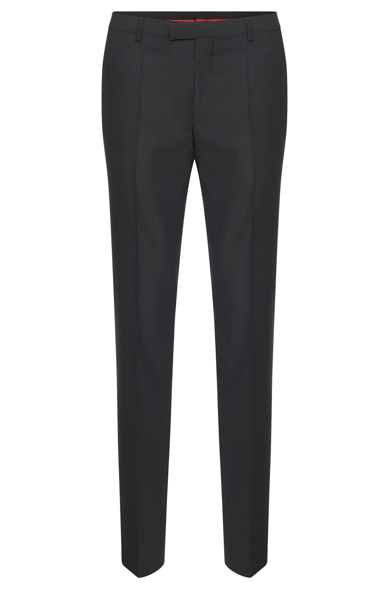 Regular-fit pantalon van scheerwol van HUGO Man