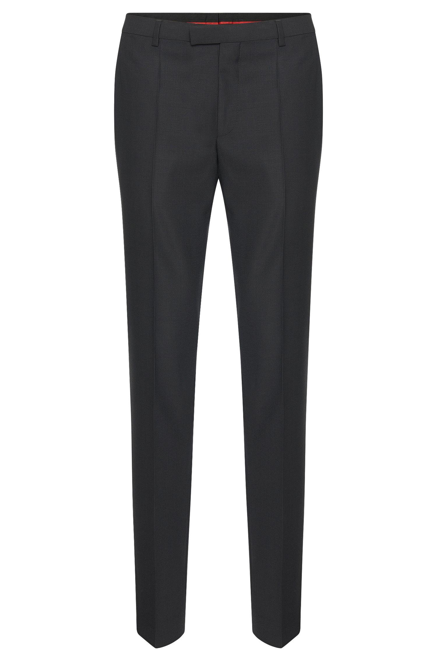 Regular-fit pantalon van scheerwol van HUGO Man