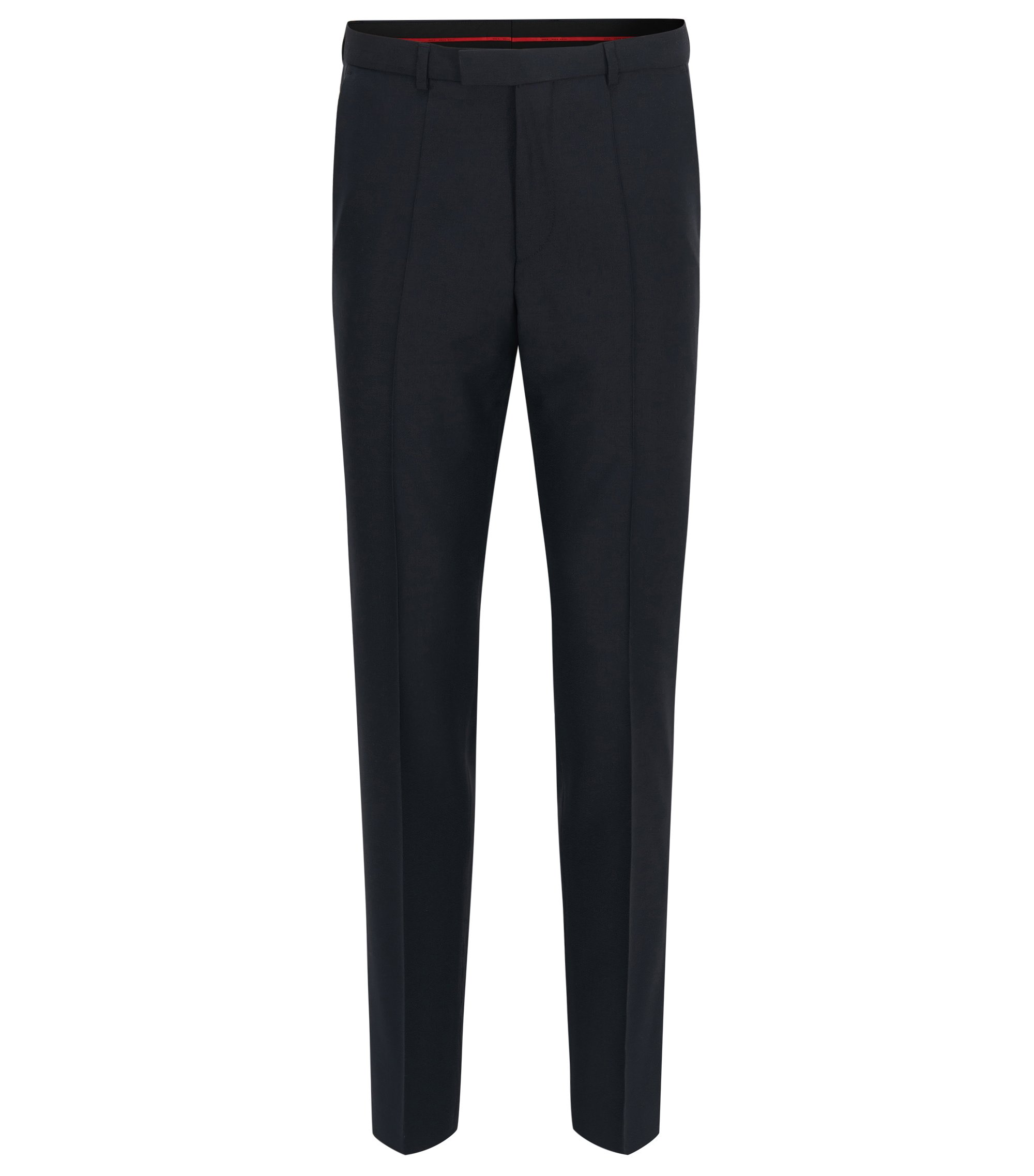 Regular-Fit Hose aus Schurwolle von HUGO Man, Dunkelblau