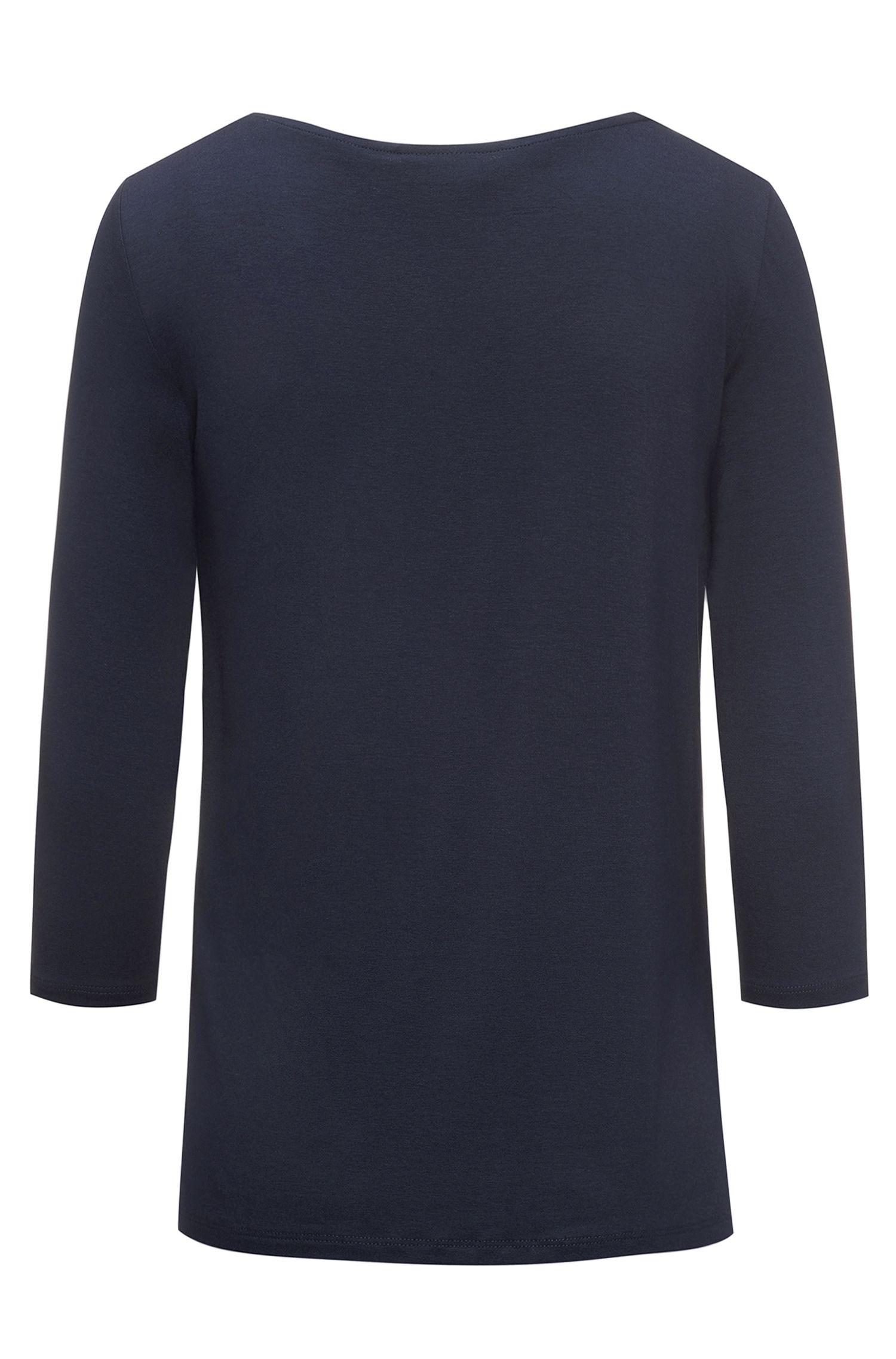 Haut en jersey Regular Fit en matière tissée sur le devant