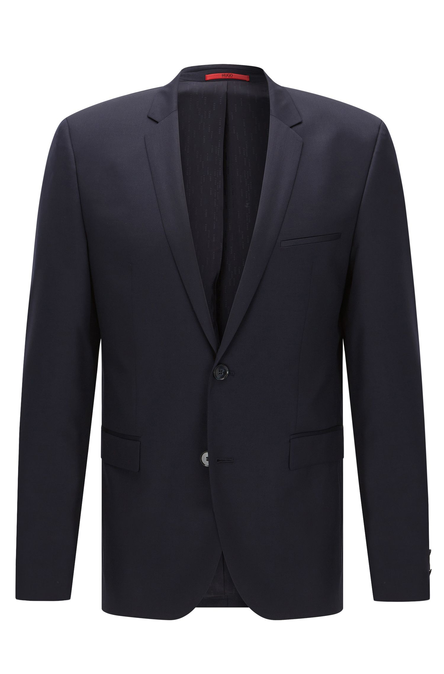 Extra-slim-fit suit in virgin wool