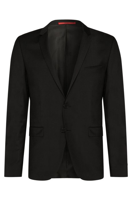 9f6379dd3 HUGO - Plain-coloured extra-slim-fit jacket in new wool: 'AddyS'