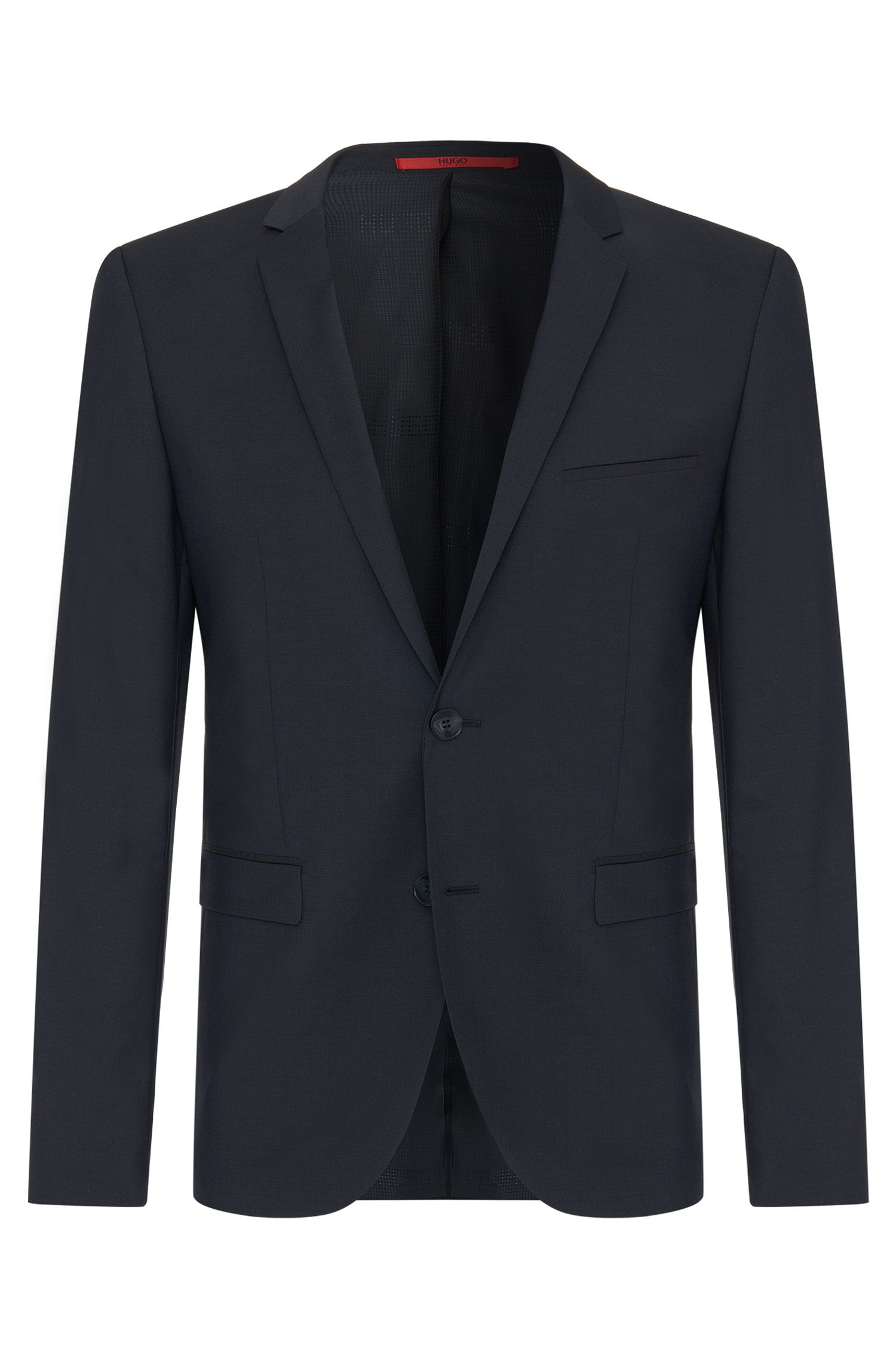 Plain-coloured extra-slim-fit jacket in new wool: 'AddyS'