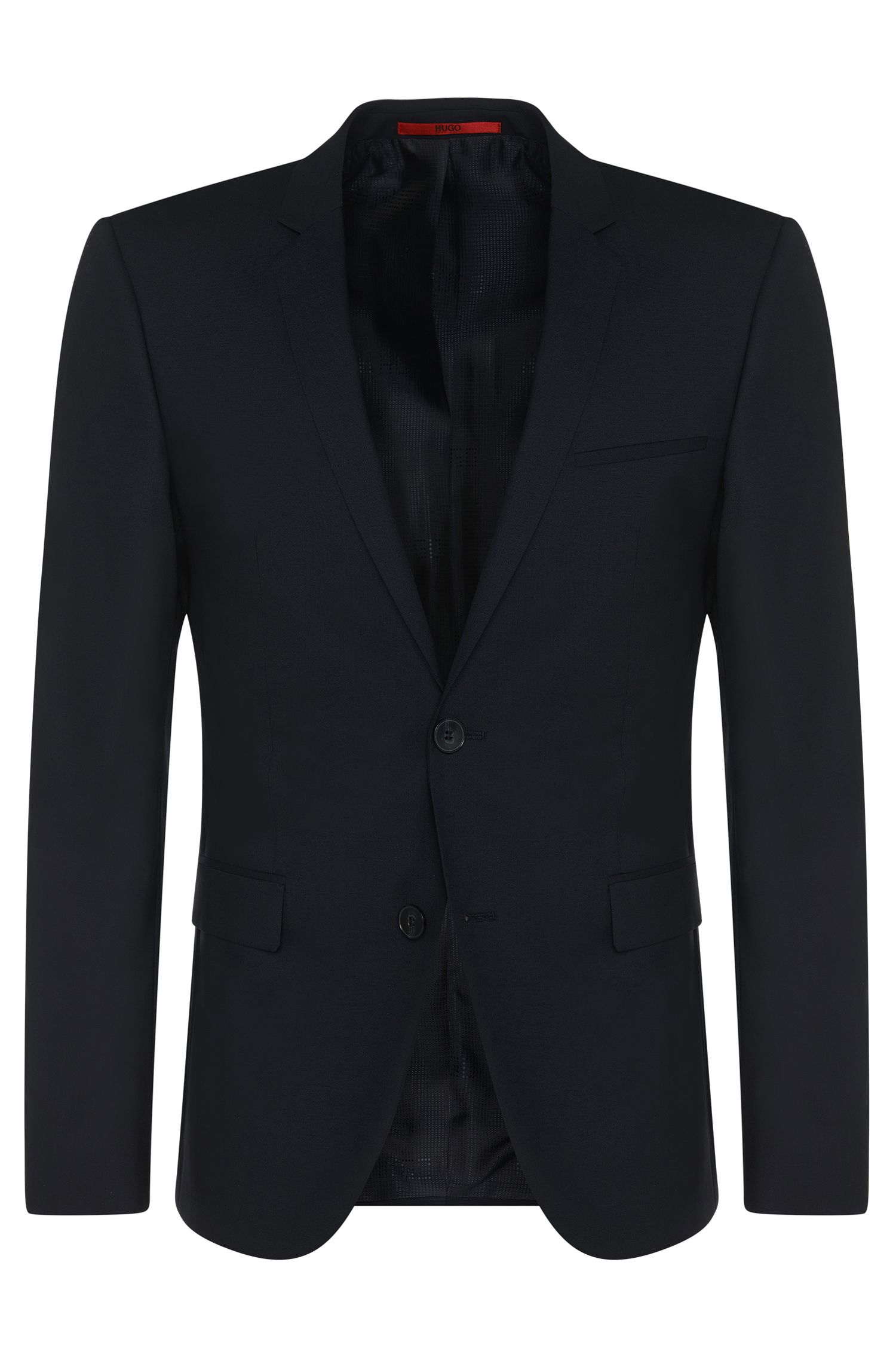 Giacca extra slim fit in lana elasticizzata