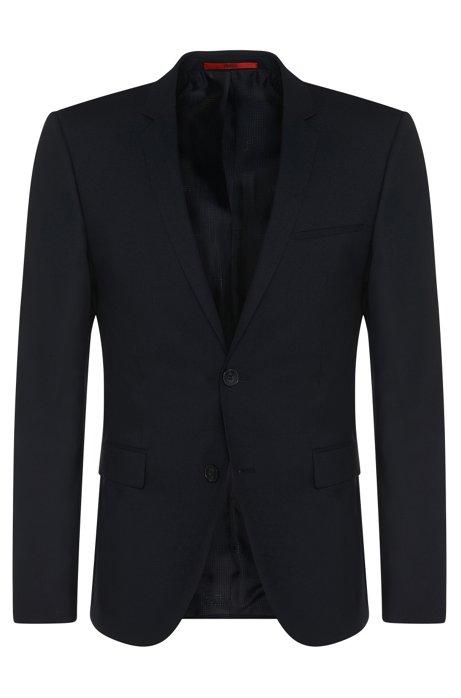 Extra-slim-fit suit jacket in stretch wool , Dark Blue