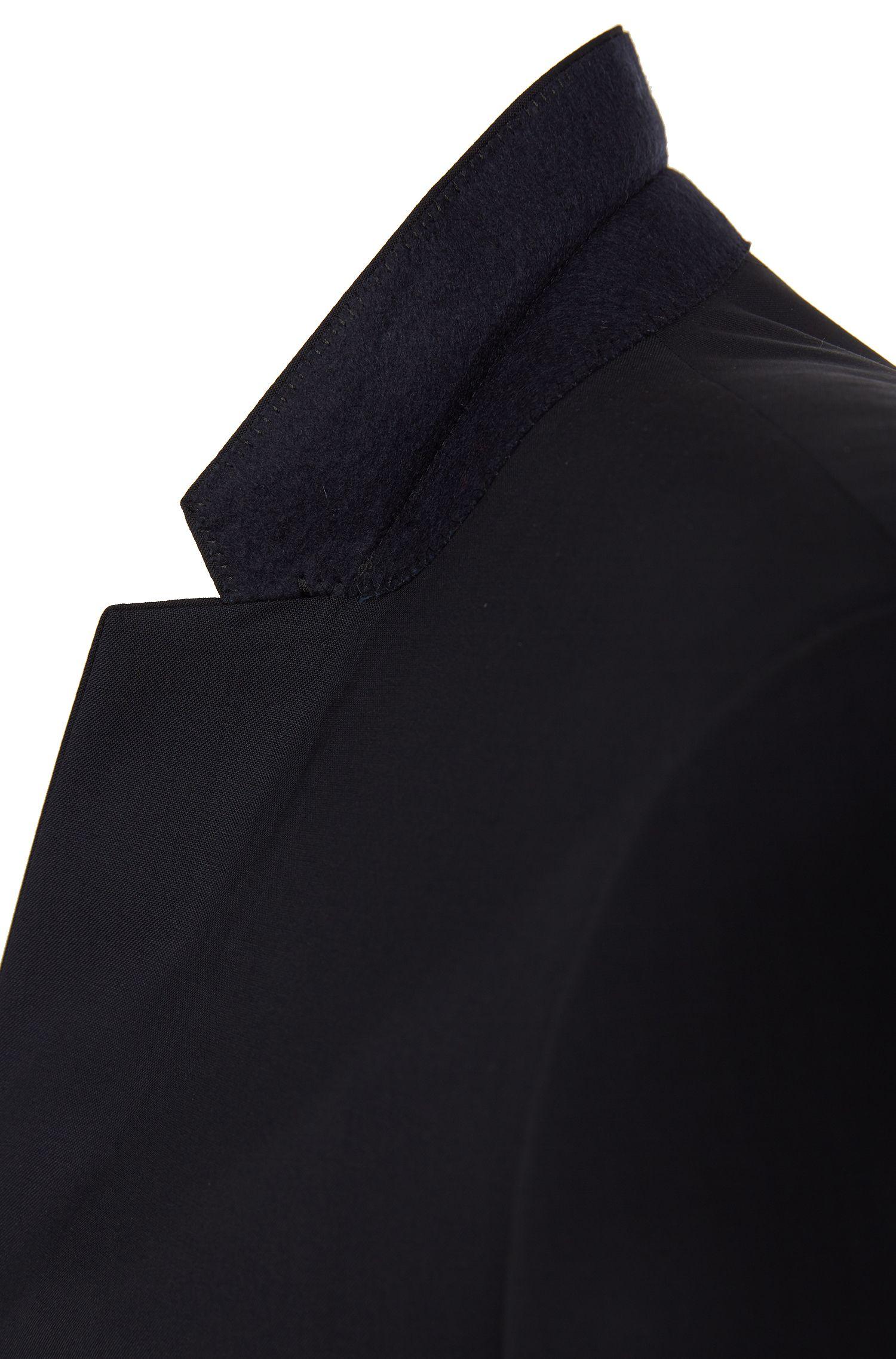 Extra Slim-Fit Sakko aus Stretch-Schurwolle , Dunkelblau