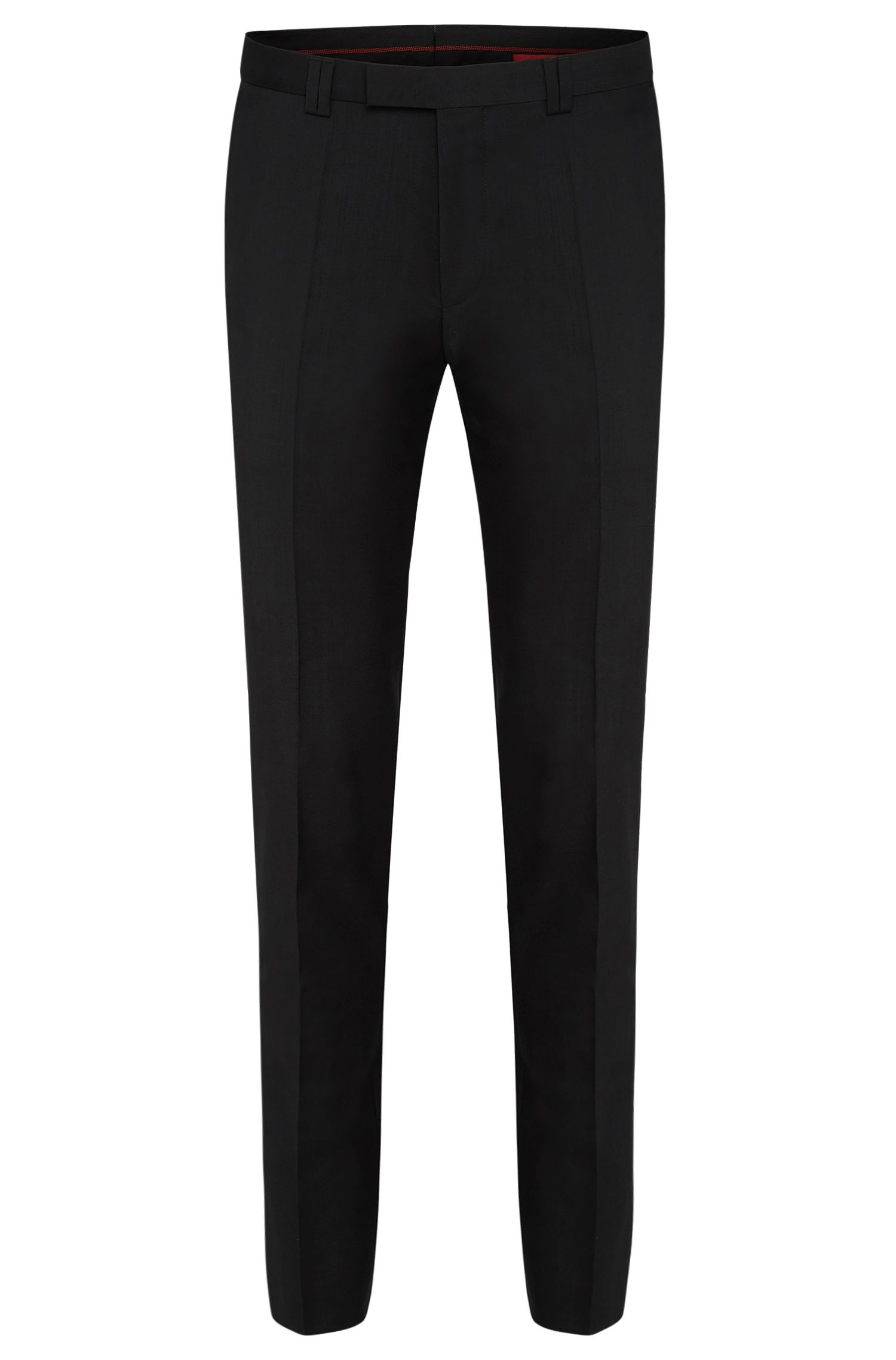 Pantalon uni Extra Slim Fit en pure laine vierge : « HopeS »