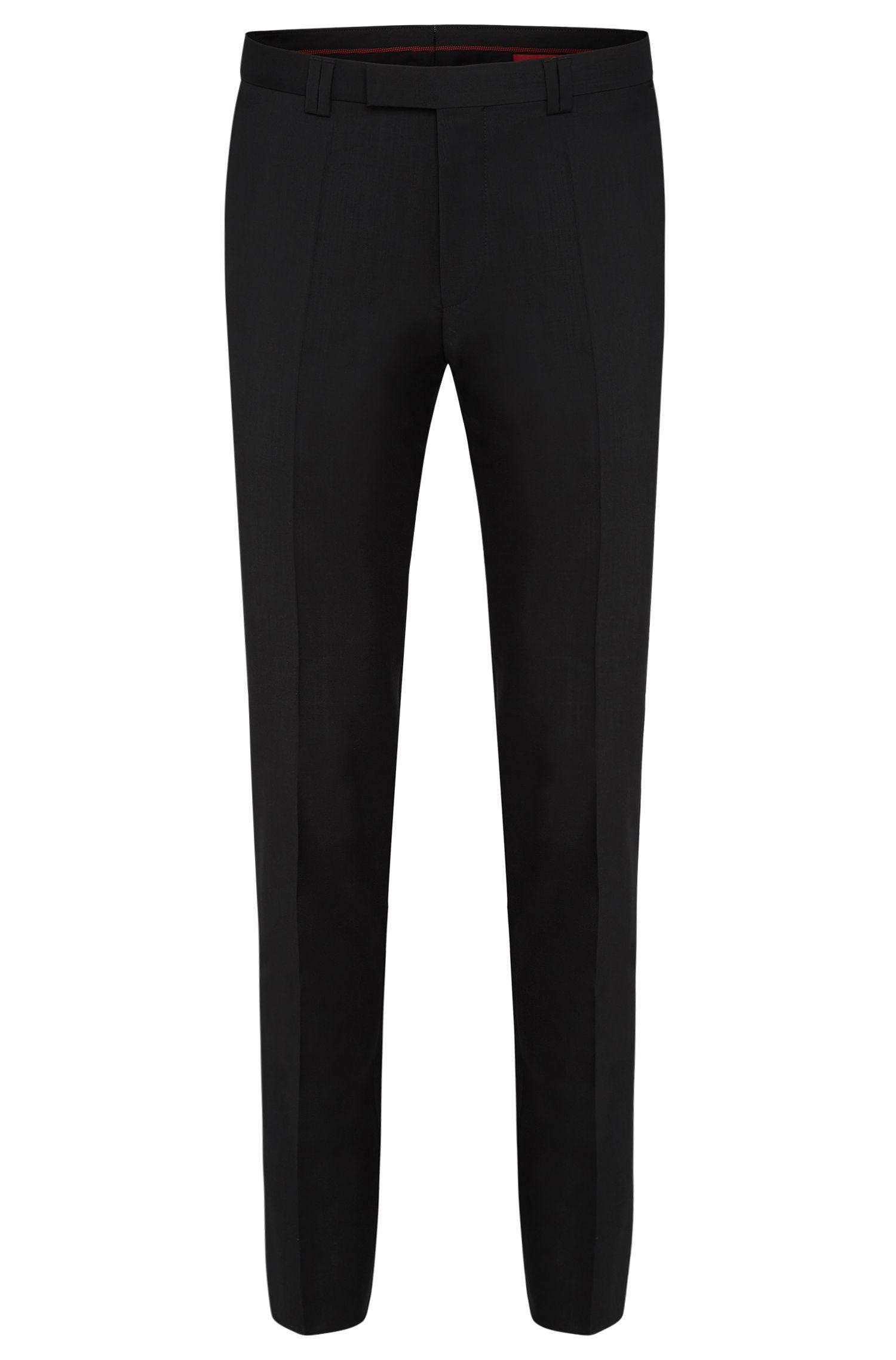 Pantalon uni Extra Slim Fit en pure laine vierge: «HopeS»