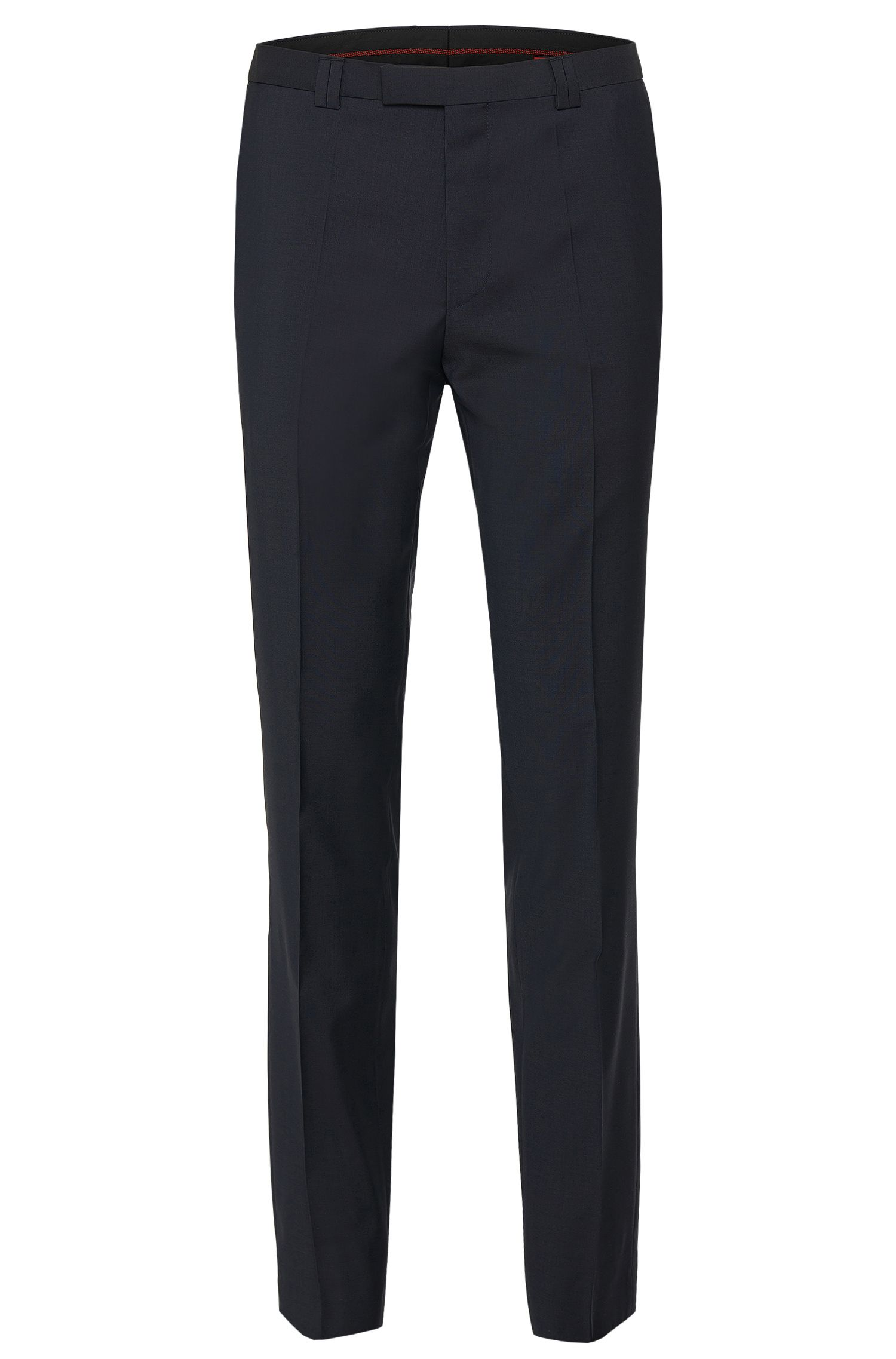 Plain-coloured extra-slim-fit trousers in pure new wool: 'HopeS'