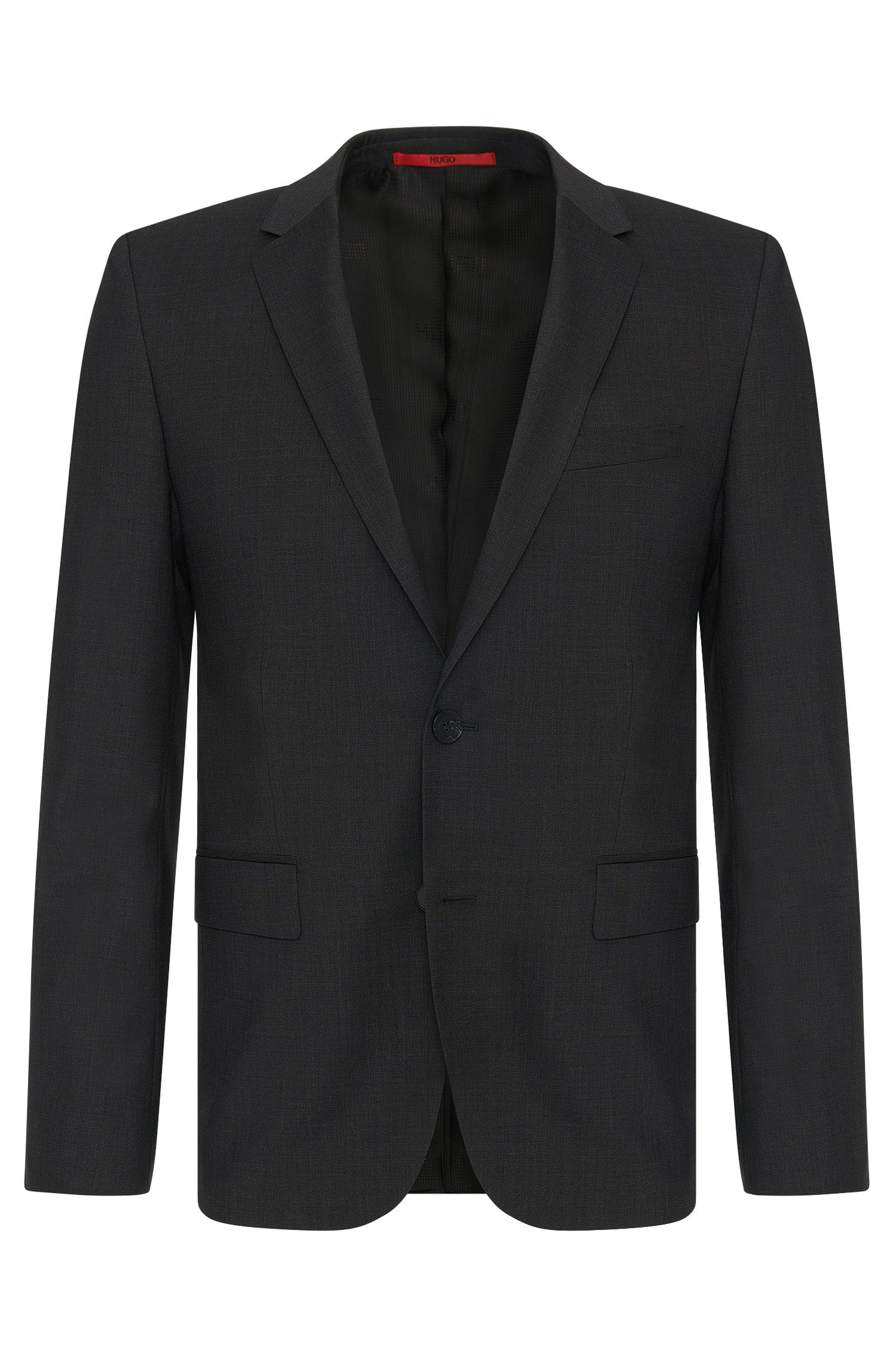 Slim-fit jacket in pure new wool: 'AlanS'