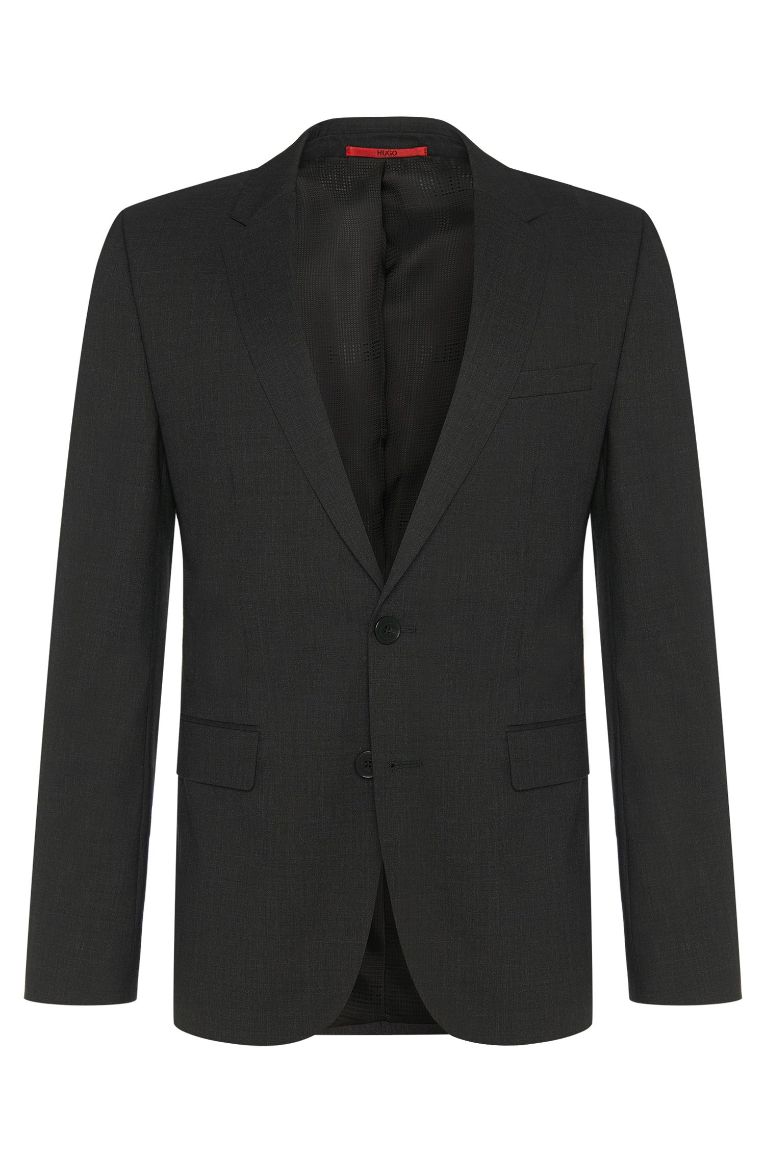 Slim-fit suit jacket in stretch wool by HUGO Man