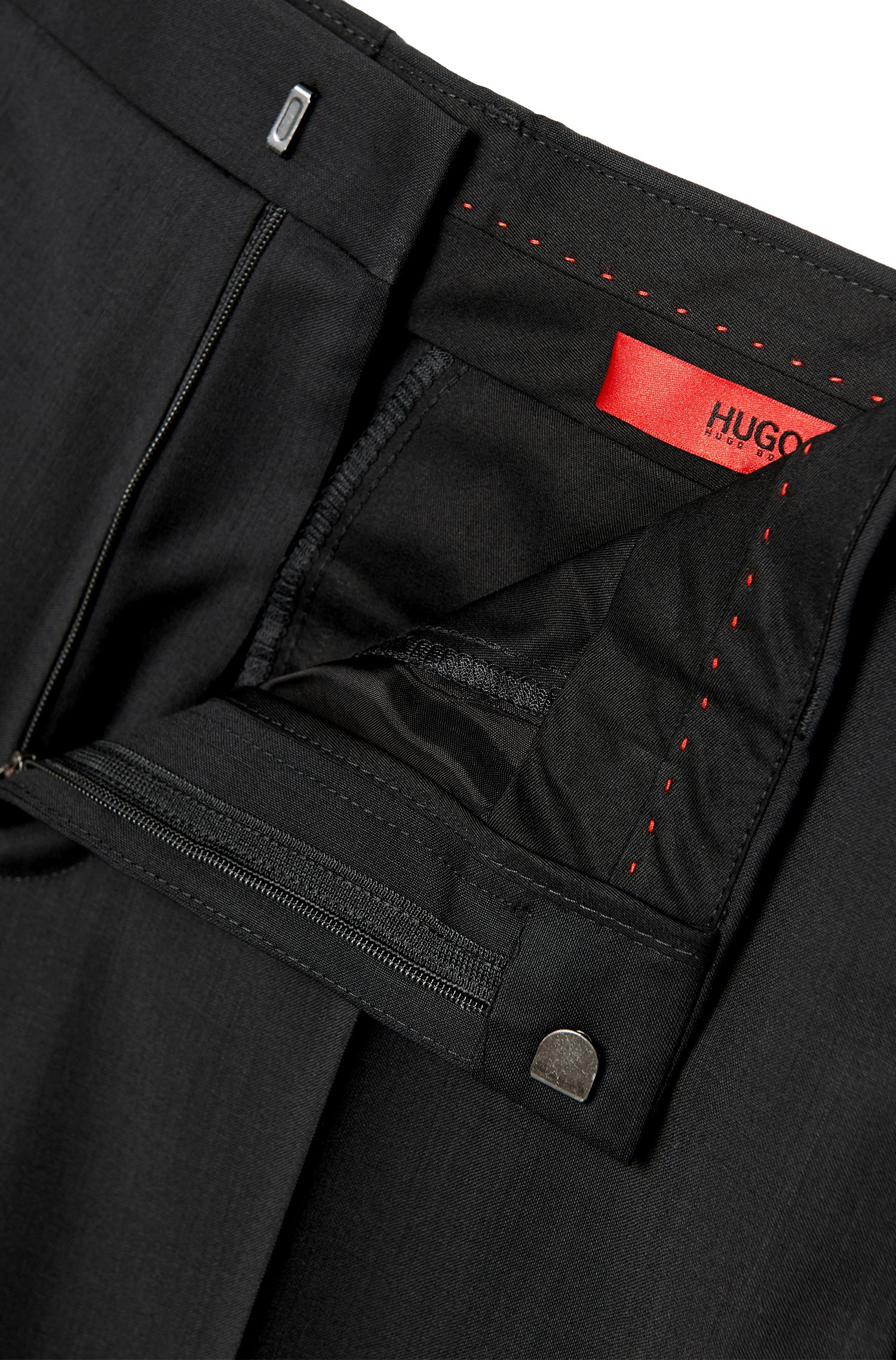 Pantaloni slim fit in lana vergine in tinta unita: 'HardyS'