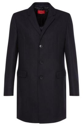 Abrigo en mezcla de lana virgen: 'Migor2', Azul oscuro