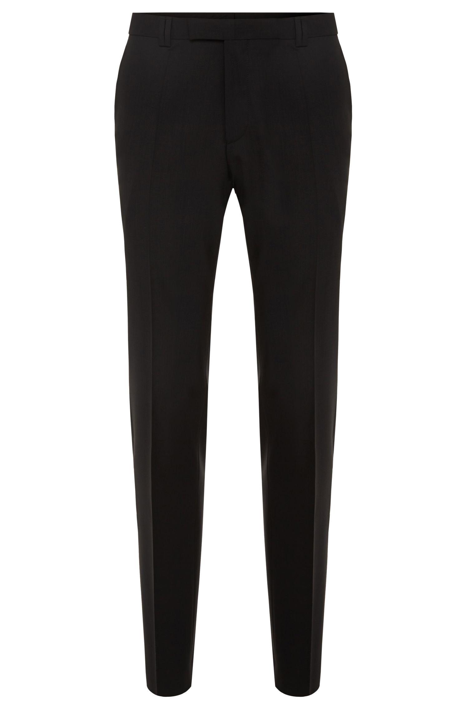 Pantalon skinny en laine stretch