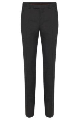 Pantalon skinny en laine stretch , Gris sombre