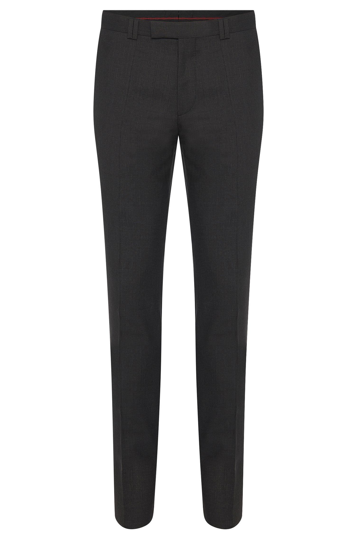 Skinny-fit broek van wol met stretch