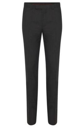Pantalones skinny fit en lana elástica , Gris oscuro