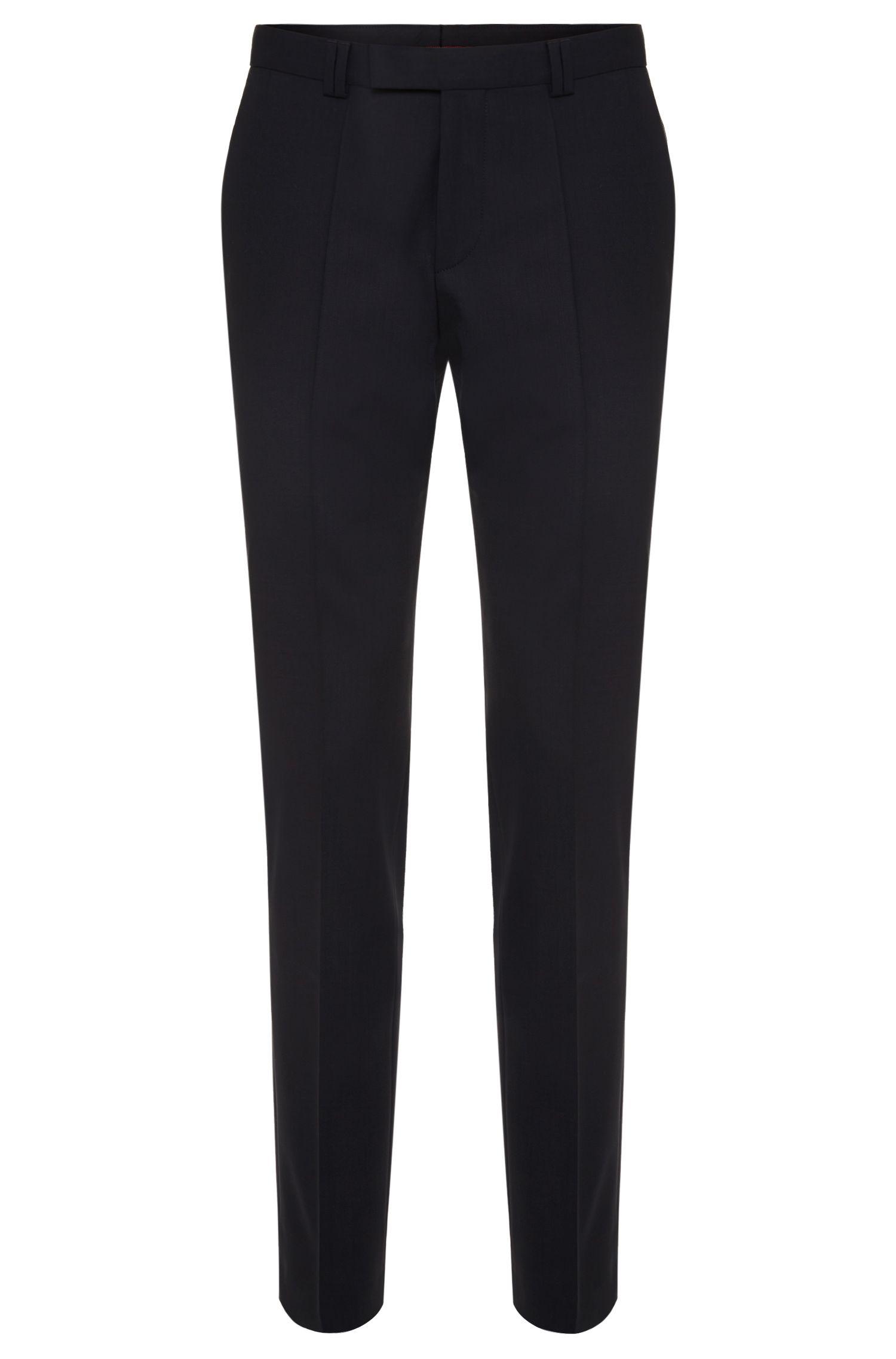 Pantalones skinny fit en lana elástica