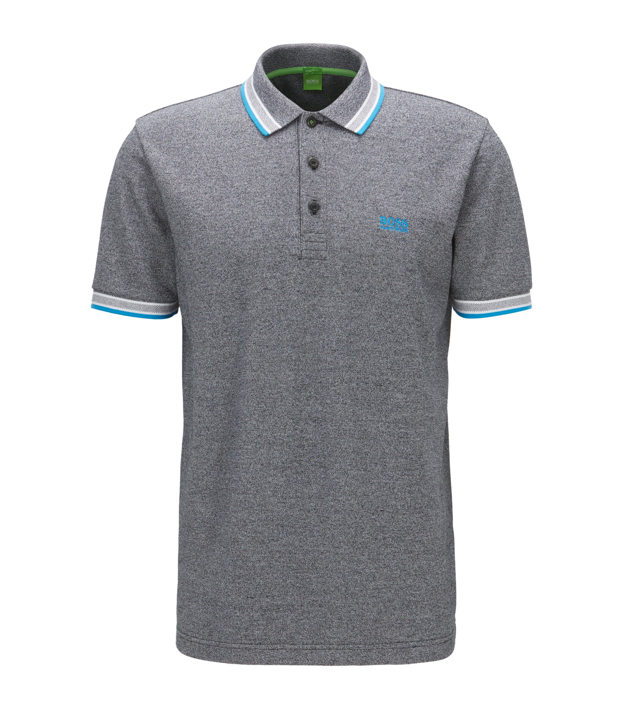 Polo Regular Fit en maille piquée, Gris