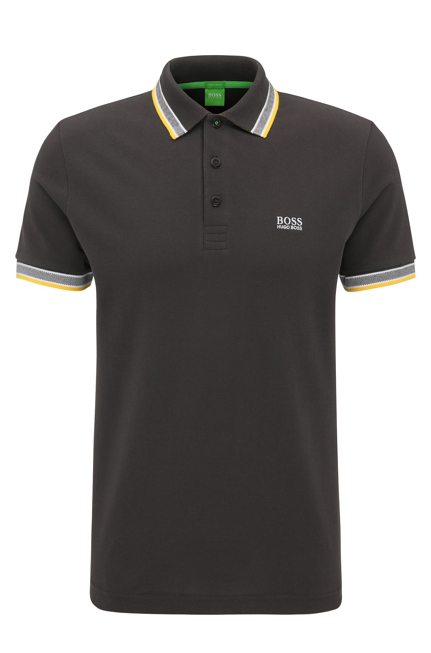 Regular-fit polo shirt in knitted piqué
