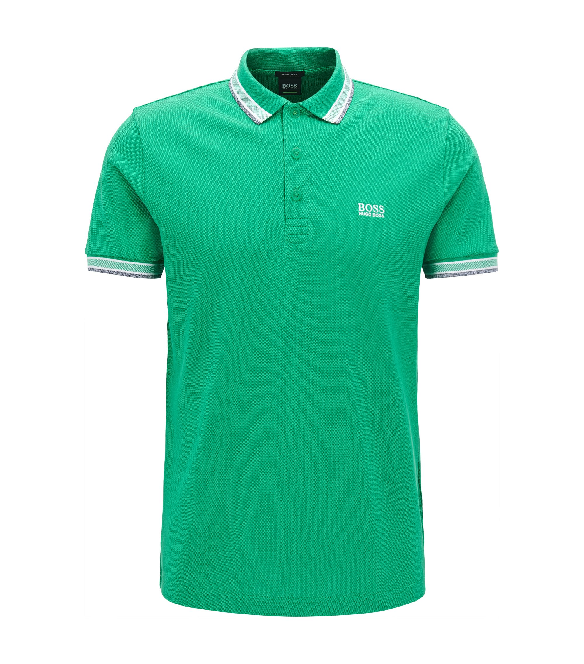 Polo regular fit en piqué de punto, Verde