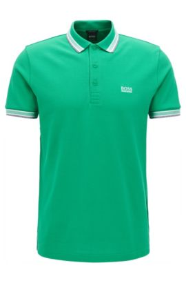 Polo Regular Fit en maille piquée, Vert