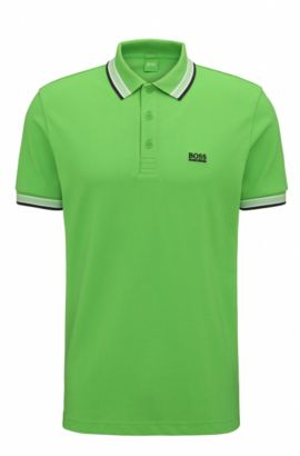 Polo regular fit in piqué, Verde