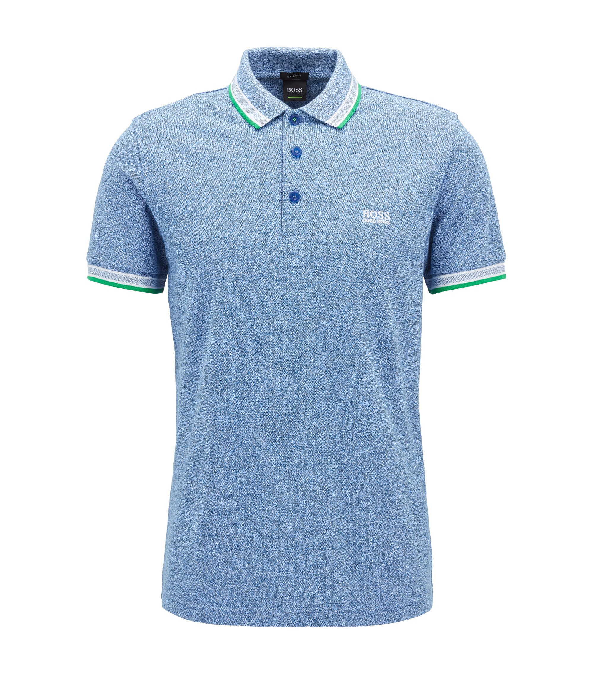 Polo Regular Fit en maille piquée, Bleu