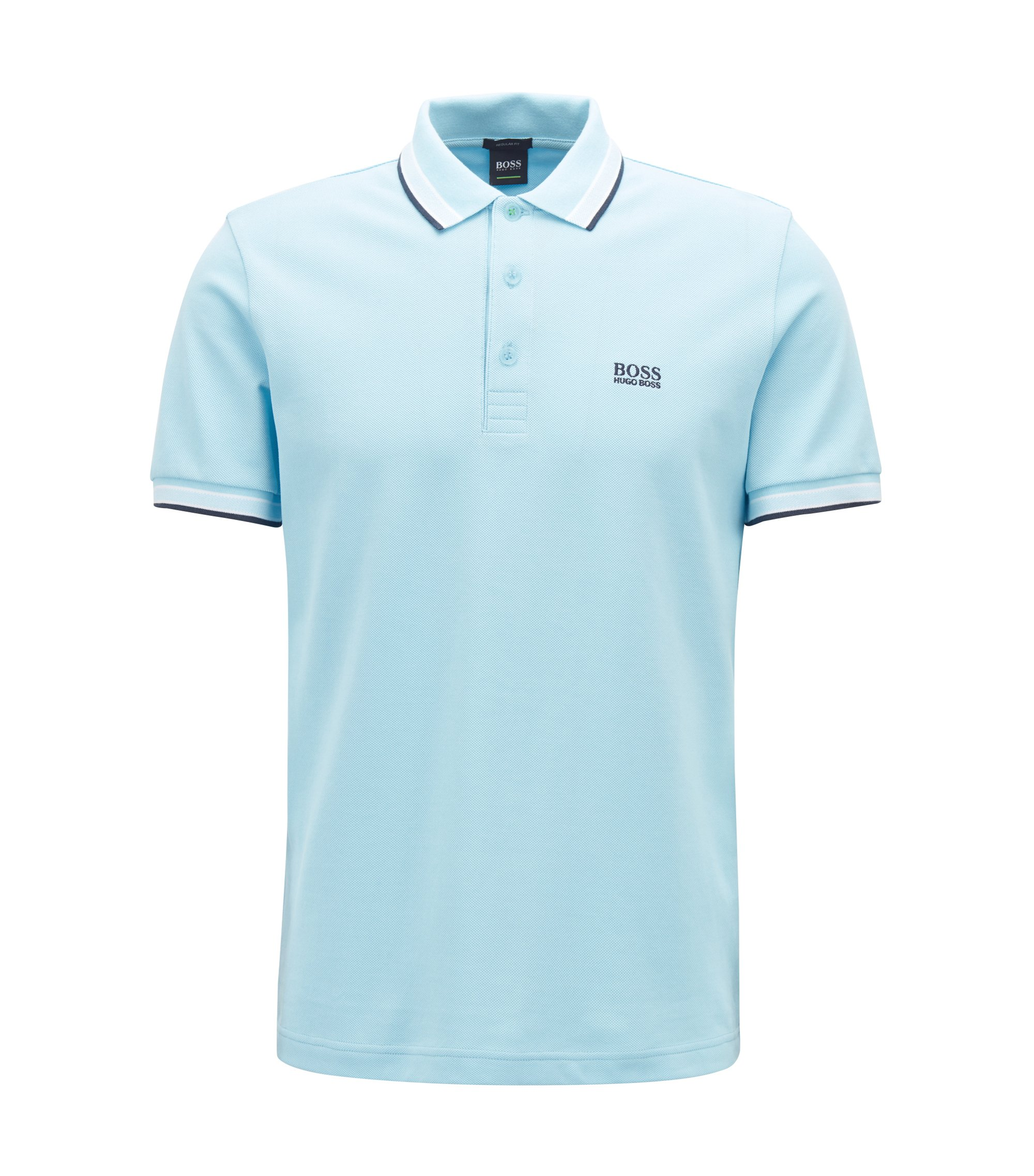 Polo Regular Fit en maille piquée, Bleu vif