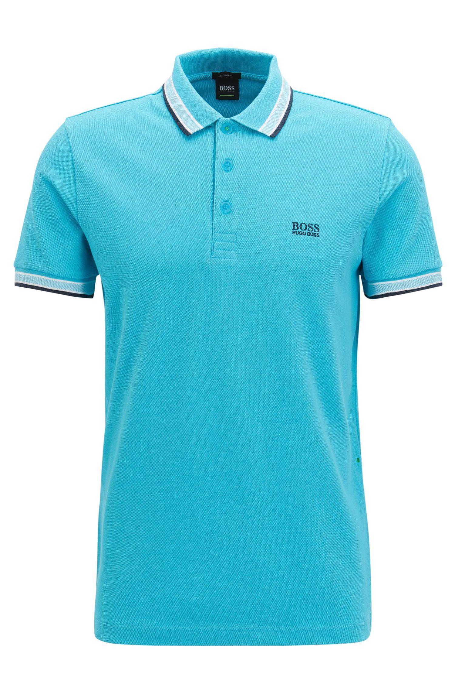Regular-Fit Poloshirt aus Baumwoll-Piqué