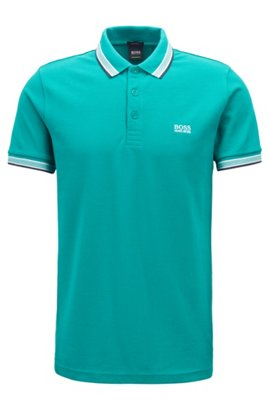BOSS Hugo Boss Slim-fit stretch-cotton polo shirt contrast tipping XXL Open Red Grey Outlet Store Online Cheap Sale Best Place A2HqPwcm