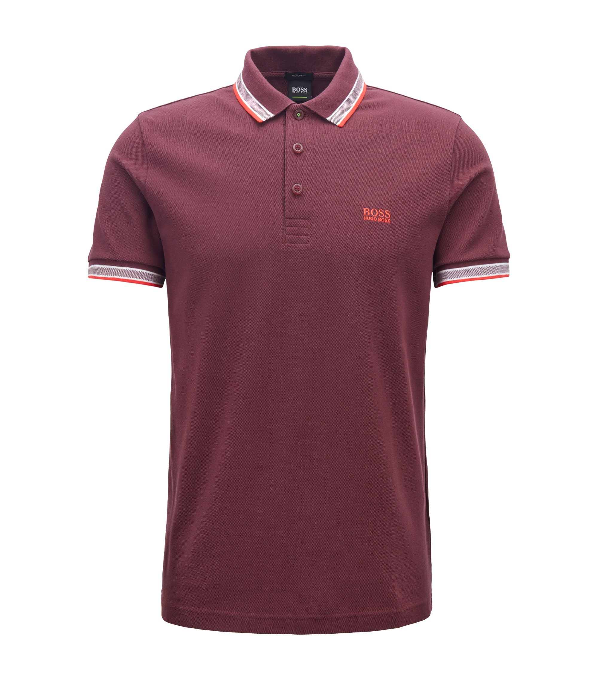 Polo regular fit in piqué, Viola scuro