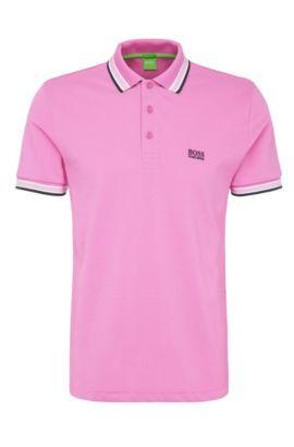Regular-Fit Poloshirt aus Baumwoll-Piqué, Flieder