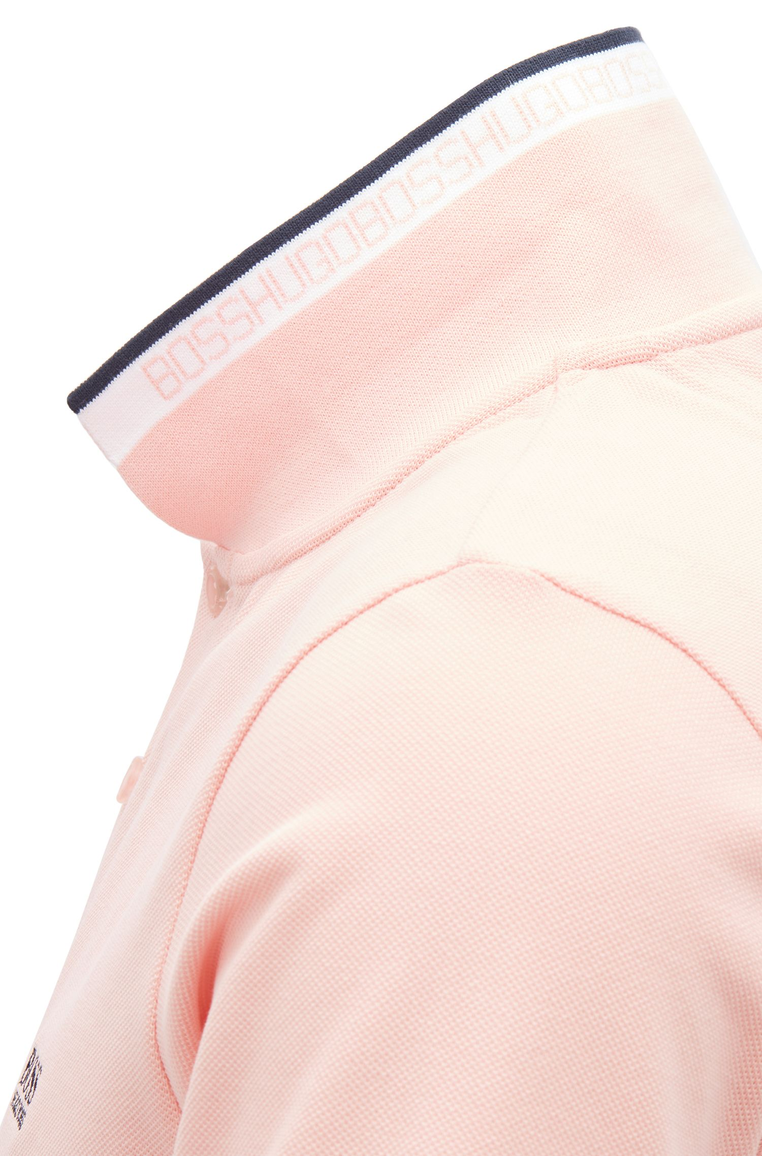 Polo Regular Fit en maille piquée, Rose clair
