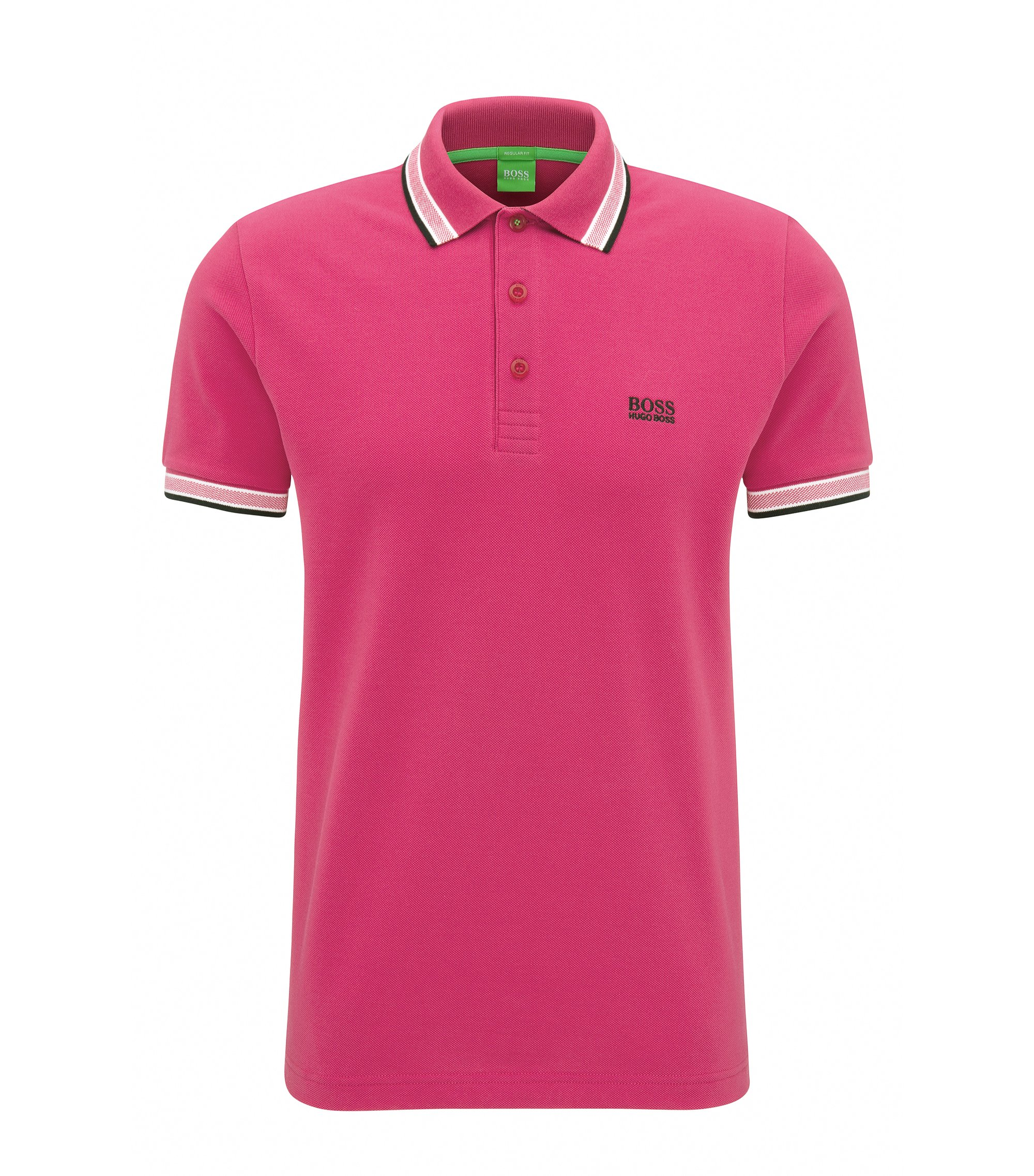 Polo Regular Fit en maille piquée, Rose