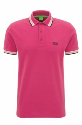 Regular-fit polo shirt in knitted piqué, Pink